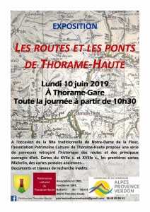 affiche expo Routes et ponts  2019 NDF