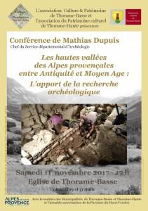 Conférence de M Dupuis 11.11.17