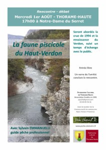affiche Faune piscicole Ht-Verdon 01.08.18